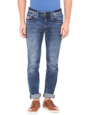 U.S. Polo Assn. Denim Co. Acid Washed Skinny Fit Jeans