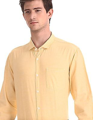 Roots by Ruggers Check Cotton Linen Shirt