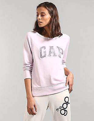 GAP Brand Applique Crew Neck Sweatshirt