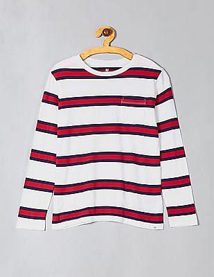 GAP White Boys Long Sleeve Striped T-Shirt