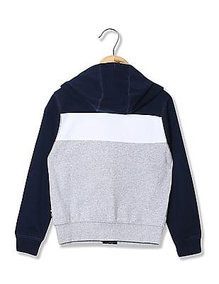 U.S. Polo Assn. Kids Boys Colour Block Hooded Sweatshirt