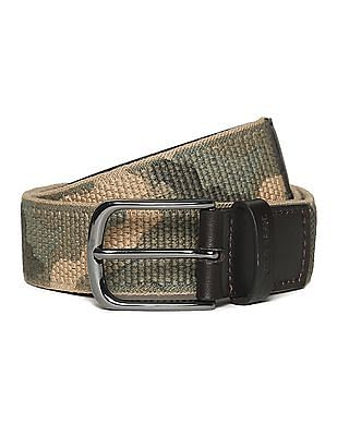 U.S. Polo Assn. Camo Print Canvas Belt