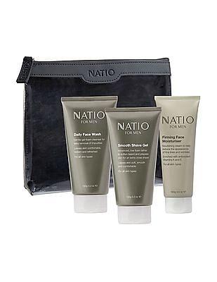 NATIO Moisturizer, Shave Gel And Face Wash Kit