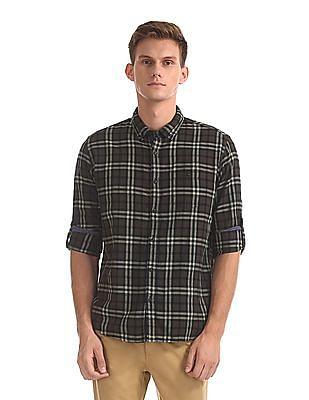 Cherokee Button Down Collar Check Shirt
