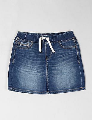 GAP Blue Girls Denim Pull On Skirt