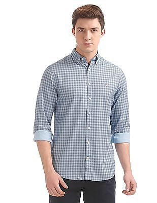 Gant Gingham Dot Print Pinpoint Regular Button Down Shirt