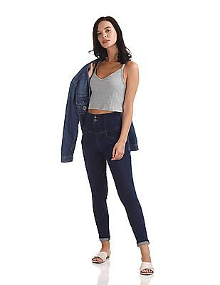 Flying Machine Women Hourglass Skinny Fit High Waist Jeans