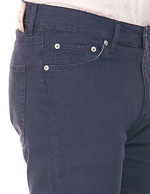 Gant Solid Slim Straight Fit Pants