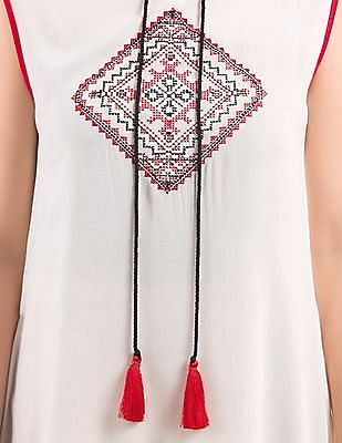 Bronz Embroidered Sleeveless Tunic