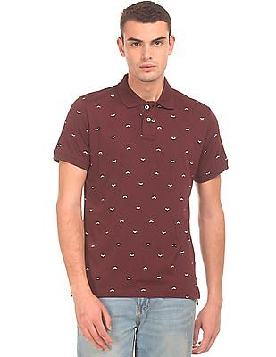 Aeropostale Printed Regular Fit Polo Shirt