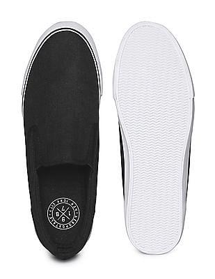 Aeropostale Textured Canvas Slip On Shoes