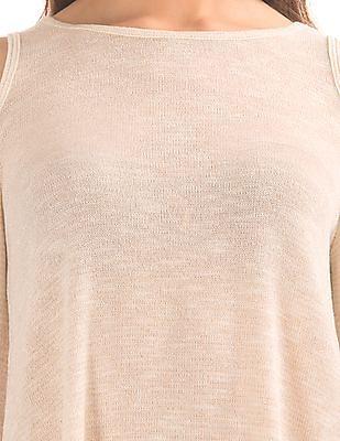 Aeropostale Cold Shoulder Shimmer Top