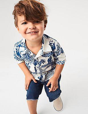 GAP Toddler Boy Hawaiian Print Short Sleeve Shirt