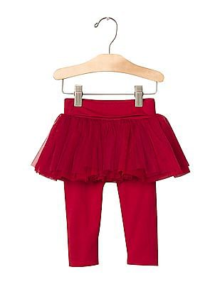 GAP Baby Red Tulle Skirt Legging Duo
