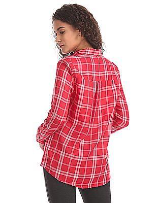 U.S. Polo Assn. Women Regular Fit Checked Shirt