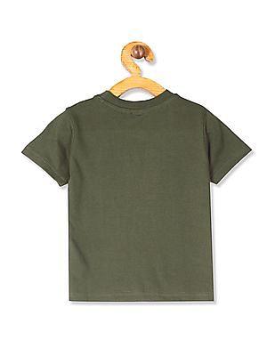 Cherokee Green Boys Short Sleeve Printed T-Shirt