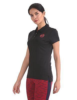 U.S. Polo Assn. Women Short Sleeve Active Polo Shirt