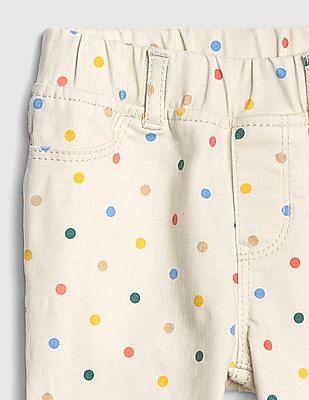 GAP Toddler Girl Dot Jeggings With Fantastiflex