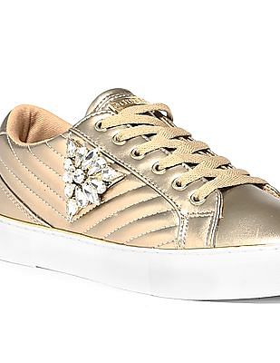 GUESS Stone Embellished Round Toe Sneakers