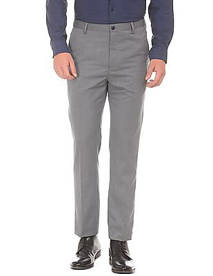 Arrow Newyork Patterned Tapered Fit Trousers