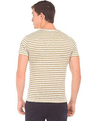 Cherokee Striped V-Neck T-Shirt