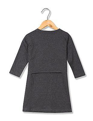 U.S. Polo Assn. Kids Girls Heathered T-Shirt