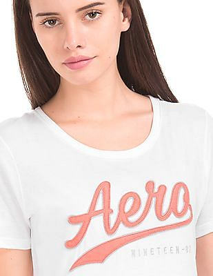 Aeropostale Appliqued Front Regular Fit T-Shirt