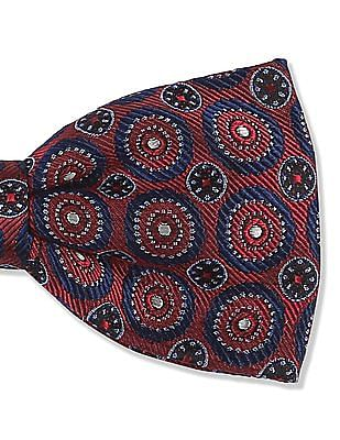 True Blue Pre Tied Jacquard Bow Tie