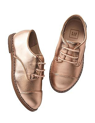 GAP Toddler Girl Gold Metallic Oxfords
