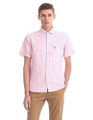 U.S. Polo Assn. Tailored Regular Fit Cutaway Collar Shirt