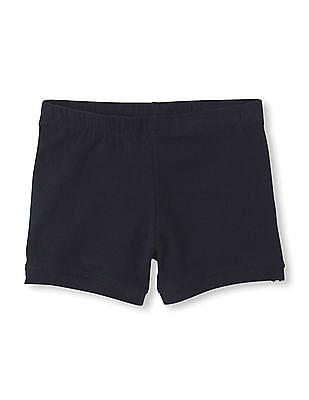 The Children's Place Girls Blue Knit Cartwheel Shorts
