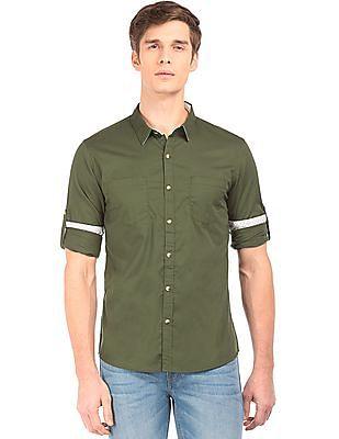 Ruggers Regular Fit Solid Shirt