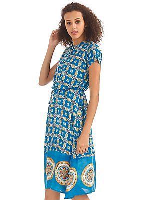 Bronz Button Placket Maxi Dress
