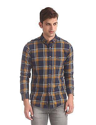U.S. Polo Assn. Denim Co. Blue Button Down Collar Cotton Shirt