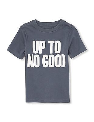 The Children's Place Toddler Boy Short Sleeve 'Up To No Good' Graphic Tee