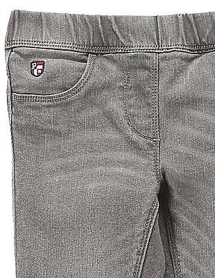 U.S. Polo Assn. Kids Girls Slim Washed Jeggings