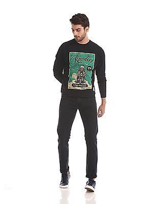 Flying Machine Long Sleeve Graphic Sweatshirt
