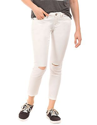 Aeropostale Distressed Ankle Length Trousers