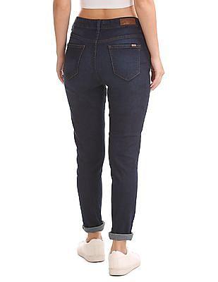 Flying Machine Women Skinny Fit Dark Wash Jeans
