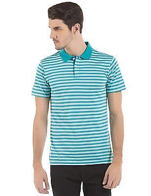 Geoffrey Beene Striped Slim Fit Polo Shirt