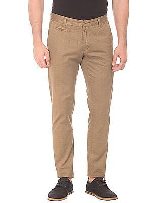 Cherokee Printed Slim Fit Trousers
