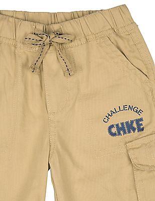 Cherokee Boys Elasticized Waistband Cargo 3-4ths
