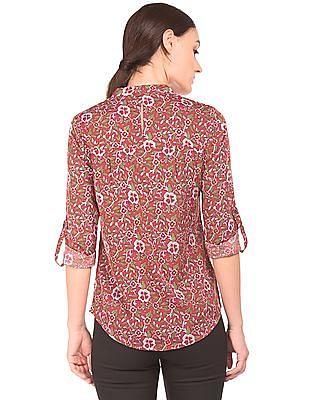 Arrow Woman Keyhole Back Printed Shirt