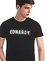Ed Hardy Black Brand Print Cotton Jersey T-Shirt