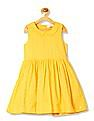 U.S. Polo Assn. Kids Girl Peter Pan Collar Hakoba Dress