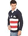 Arrow Sports Patterned Cotton Sweater