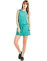 GAP Women Green Softspun Knit Scoop Back Romper