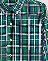 GAP Boys Poplin Plaid Long Sleeve Shirt