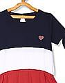 U.S. Polo Assn. Kids Multi Colour Girls Colour Block T-Shirt Dress