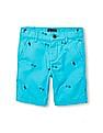 The Children's Place Boys Toucan Palm Print Chino Shorts